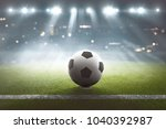 soccer field with ball on the...   Shutterstock . vector #1040392987