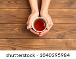 cup of morning tea | Shutterstock . vector #1040395984