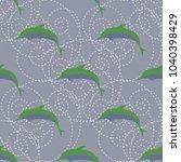 seamless texture with a flock... | Shutterstock . vector #1040398429