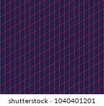 isometric grid. vector seamless ... | Shutterstock .eps vector #1040401201