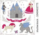 fairy tale theme. prince ... | Shutterstock .eps vector #1040403775