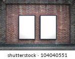 two blank billboards attached...   Shutterstock . vector #104040551