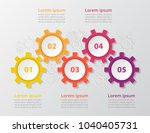 step by step infographic.... | Shutterstock .eps vector #1040405731