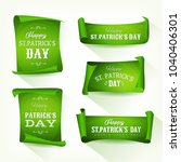 st. patrick's day parchment... | Shutterstock .eps vector #1040406301