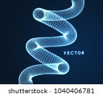 spiral. connection structure.... | Shutterstock .eps vector #1040406781