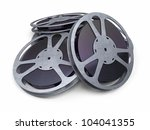 film reel strip  clipping path... | Shutterstock . vector #104041355