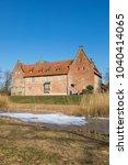 bederkesa castle at the town of ... | Shutterstock . vector #1040414065