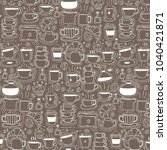 pattern with line hand drawn...   Shutterstock .eps vector #1040421871