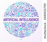 artificial intelligence concept ...   Shutterstock .eps vector #1040422705
