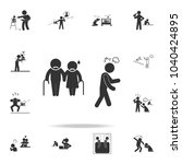 disrespect for parents icon....   Shutterstock .eps vector #1040424895