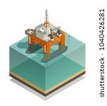 oil production industry... | Shutterstock .eps vector #1040426281