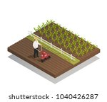 farming machinery agricultural... | Shutterstock .eps vector #1040426287