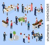 catering service isometric...   Shutterstock .eps vector #1040426305