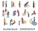 charity isometric set with... | Shutterstock .eps vector #1040426314