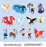 mythical creatures isometric... | Shutterstock .eps vector #1040426407