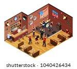 rock stars in bar isometric...   Shutterstock .eps vector #1040426434