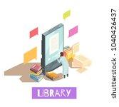 online library isometric design ... | Shutterstock .eps vector #1040426437