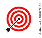 target icon. target icon in... | Shutterstock .eps vector #1040427181
