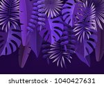 tropical leaves and plants.... | Shutterstock .eps vector #1040427631