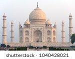 taj mahal at sunrise unesco... | Shutterstock . vector #1040428021