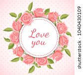 greeting card with floral... | Shutterstock .eps vector #1040430109