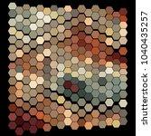 abstract hexagonal pattern on a ...   Shutterstock .eps vector #1040435257