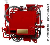 red complex fantastic machine... | Shutterstock . vector #1040438395