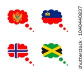 icon flag with flag of... | Shutterstock .eps vector #1040440837