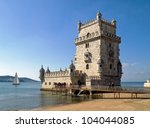 tower of belem  torre de belem  ... | Shutterstock . vector #104044085