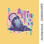 design poster or t shirt print... | Shutterstock .eps vector #1040441095