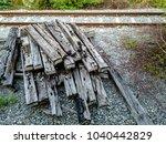 Pile Of Old And Damage Railroa...
