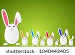 happy easter vector background... | Shutterstock .eps vector #1040443405