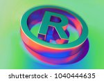 abstract color registered icon... | Shutterstock . vector #1040444635