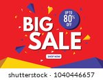 sale banner. big sale banner... | Shutterstock .eps vector #1040446657