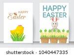 easter cards vector cartoon... | Shutterstock .eps vector #1040447335