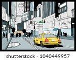night in new york city  ...   Shutterstock .eps vector #1040449957