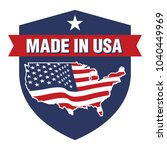 vector made in usa sign | Shutterstock .eps vector #1040449969