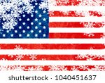 usa flag snowflake background | Shutterstock . vector #1040451637