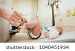 neurologist diagnosing little... | Shutterstock . vector #1040451934