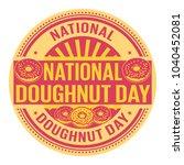 national doughnut day  rubber... | Shutterstock .eps vector #1040452081
