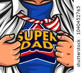 father's day hero vector... | Shutterstock .eps vector #1040452765