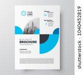 flyer brochure design template... | Shutterstock .eps vector #1040452819