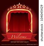 vector red blank banner on...   Shutterstock .eps vector #104045429