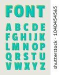 vector of  bold alphabet  font... | Shutterstock .eps vector #1040454565