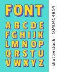 vector of bold alphabet  font... | Shutterstock .eps vector #1040454814