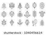geometrical leaves and trees... | Shutterstock .eps vector #1040456614