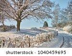 wintertime landscapes germany | Shutterstock . vector #1040459695