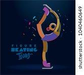 figure skater girl. vector... | Shutterstock .eps vector #1040460649
