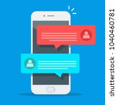 new chat messages notification... | Shutterstock .eps vector #1040460781