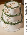 beautiful wedding cake...   Shutterstock . vector #1040461429